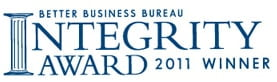 BBB Integrity Award Winner 2011