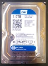 Exterior of a hard drive for a desktop or tower computer